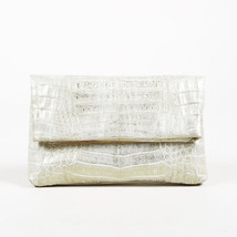 Nancy Gonzalez Gold Crocodile Clutch - $555.00