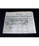 Oakland Tribune October 18, 1989 Earthquake Game 3 Sports World Series N... - $39.58