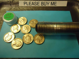 1960-P UNC. ROLL OF JEFFERSON NICKELS            SHIPPING & TRACKING    - $13.85