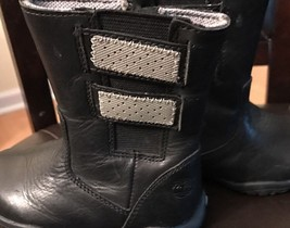 Timberland Girl's Leather Boots, Black, Toddler Size 6 Girls Girl - $0.99