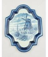 Vintage Boch Belgium ceramic porcelain wall plaque decorative plate illu... - $53.46