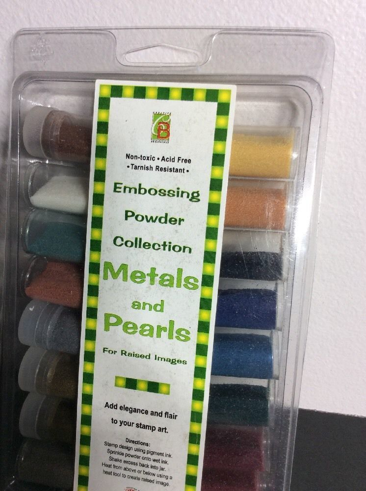 Embossing Powder Collection Metals and Pearls (16 Total) for Stamp art - USA