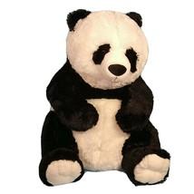 Hug Fun Panda Bear Plush Stuffed Animal 24 inch Sitting Black and White - $39.59