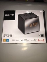 Sony ICF-C1T Desktop Alarm Clock AM FM Radio Black - NEW - $14.55