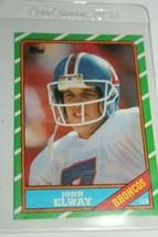 Topps Card #112  John Elway 1986 QB Denver Broncos Quarterback ELWAY - $14.24