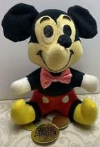 Walt Disney Prod~Mickey Mouse~Stuffed Plush Doll~Gold Die-Cut Hang-Tag~1... - $12.19