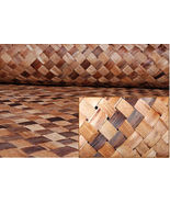 Bac Bac Multi-Color LAUHALA Cabana Weave Matting-Wall Covering- SET OF 3... - $165.00