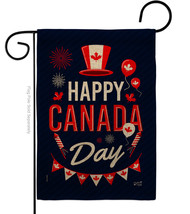 Canada Day Burlap - Impressions Decorative Garden Flag G135260-DB - $22.97