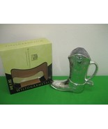 Wilton Armetale Chill & Serve Cowboy Boot 2 Qt Pitcher Made in USA NIB - $74.76