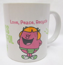 VTG Little Miss Helpful Mug Love Peace Recycle Gotta Upcycle?? 2009 Sher... - $13.22