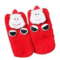 Four Pairs Christmas Socks Coral Velvet Floor Socks Children Socks Cute Socks
