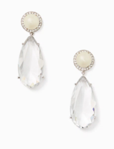 Kate Spade Glitz and Glam Drop Earrings Crystal Pearl Pave Statement Cle... - $49.49