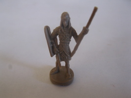 2003 Age of Mythology Board Game Piece: .Egyptian Spearman Unit - Brown - $1.00