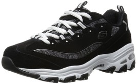 Women's Skechers D'LITES ME TIME Casual Shoes, 11936 /BKW Black/Whi Sizes 9-10 - $71.95