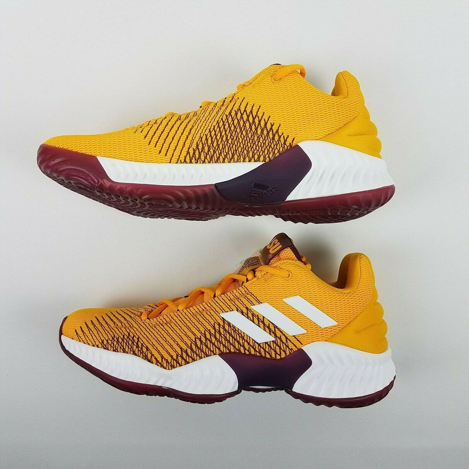 adidas Mens Pro Bounce 2018 Low ASU Basketball Shoe NCAA B41866 Size 9 image 6