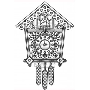 Cuckoo Clock. Stamplistic Layering Stamps CLEARANCE