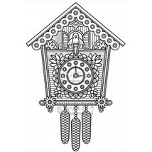 Cuckoo Clock. Stamplistic Layering Stamps