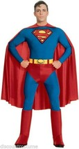 OFFICIALLY LICENSED SUPERMAN ADULT COSTUME MENS SIZE X-LARGE 44-48 NEW!!! - $44.42