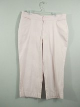 Riders by Lee Womens 16M Stretch Pink Stripe Capri Cropped Pant - $9.46