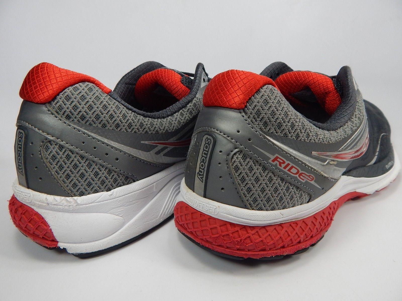 Saucony Ride 9 Size US 14 M (D) EU 49 Men's Running Shoes Gray Red S20318-1