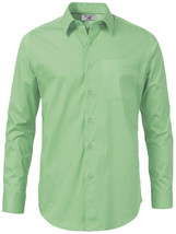Boltini Italy Men's Green Long Sleeve Solid Barrel Cuff Dress Shirt Size 4XL image 2