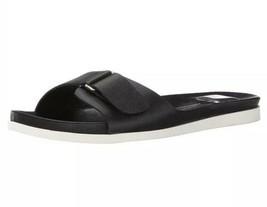Dolce Vita Women's Black Jacie Flats Slip On Adjustable Sandals-Sz: 8.5 - $39.55