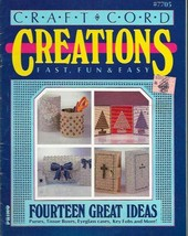 Craft Cord CREATIONS #7705 Primo 14 Ideas Purses Tissue Boxes Key Fobs &... - $4.99