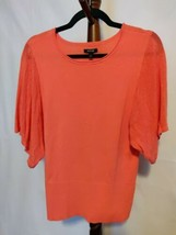 Apt. 9 women's size M pullover sweater coral scoop neck holed short slee... - $20.29