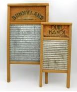 "2 Columbus Washboard Co Dubl Handi 18"" Sunnyland 24"" Wood Frame Galvaniz... - $34.99"