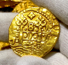 "PERU 1725 ""LUIS I"" 8 ESCUDOS PIRATE GOLD COINS SHIPWRECK TREASURE JEWELR... - $7,950.00"