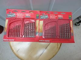 "2 Sets Vermont American Gold Oxide 13 Pc Drill Bit Set (1/16-1/4"") #12187 - $27.00"