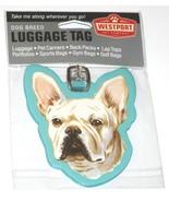 Westport French Bulldog Dog Pup Luggage Tag Pet Carrier Purse Gym Golf Bag - $12.75