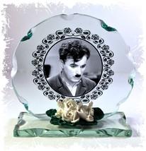 Charlie Chaplin, Worldwide Icon,  Cut Glass Round Plaque, Limited Editio... - $32.07