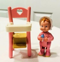 Fisher Price Loving Family Baby Girl & Pink High Chair - $16.82