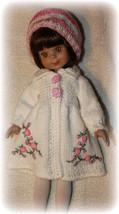 rose pink-white Hand Knit Spring  set for Effne... - $47.50
