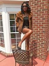 Designer vtg Furs Dark sable brown hue Mink Fur Coat Jacket stroller S-M... - $499.99