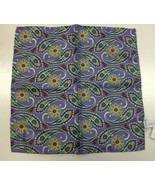 Eton Paisley Pattern Brown Pocket Square MSRP $65 - $29.69