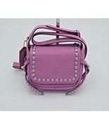 NWT Coach Rivets Dakotah 15 Purple Leather Studded Crossbody Bag New 357... - $195.00