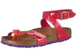 Birkenstock YARA ankle strap Tropical Orange Pink Narrow Sandals EU 37 N... - $65.95