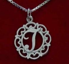 SALE Sterling Silver .925 Charm pendant Initial Letter Elegant T Celtic Knot Jew - $19.87