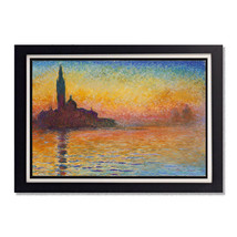 San Giorgio Maggiore at Dusk Claude Monet Glossy Poster 11x17in or 24x36in - $11.95