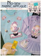 New Daisy Kingdom No Sew Fabric Applique Hug Some Bunny 6918 Nos Iron On Rabbit - $6.91