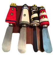 Boston Warehouse Lighthouse Spreaders Set of 4 Stainless Steel Knives Na... - $24.70