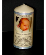 Cellini Candles Personalised Godson Christening Baptism Photo Candle Gif... - $21.77