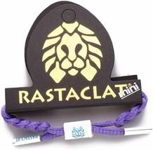 RASTACLAT Gusher Purple Girls MiniClat Braided Shoelace Bracelet RCW001GSHR NEW