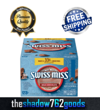 Swiss Miss Milk Chocolate Flavor Hot Cocoa Mix Packets 50 ct 99.9% Caffeine Free - $24.54