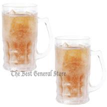 14oz Set of 2 Freezable Beer Mugs BPA Free Freezer Ice Cold Beverage - $26.89