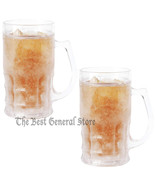 14oz Set of 2 Freezable Beer Mugs BPA Free Freezer Ice Cold Beverage - $26.89