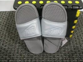 BNWT Nike Women's Benassi Just Do It Slides, silver grey, size 7 - $25.74