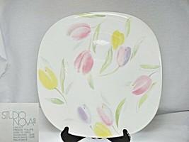 Studio Nova French Tulips CH007 Square Dinner Plate - $16.82